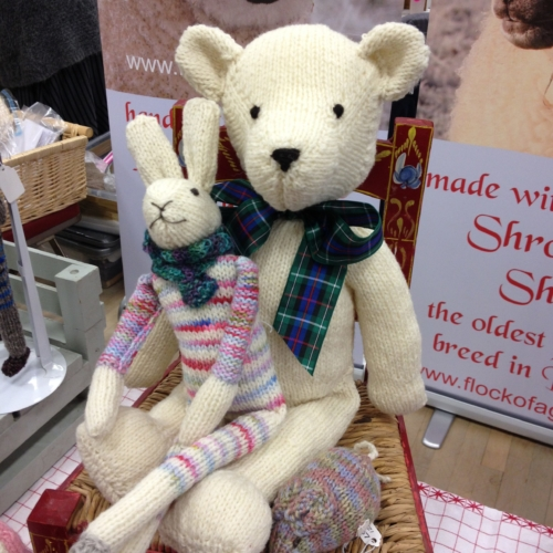 Shropshire sheep, Shropshire wool gifts, teddy bear and hare