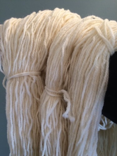 Shropshire sheep, Shropshire wool skeins